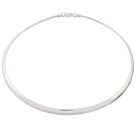 "Ultrafine Silver 18"" 6mm Omega Necklace, 25.5g"