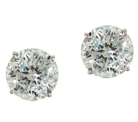 Diamonique 2.50 ct tw 100-Facet Stud Earrings,1 4K Gold