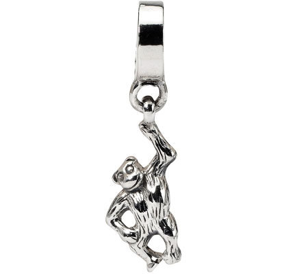 Prerogatives Sterling Monkey Dangle Bead