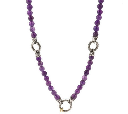"Barbara Bixby 20"" Gemstone Bead Necklace, Sterling/18K"