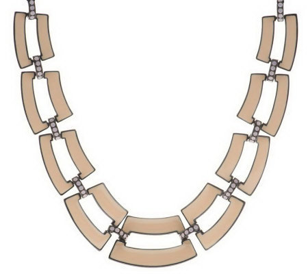 Open Link Park Avenue Enamel Necklace
