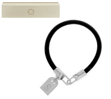 White Bronze Initial Tag Leather Bracelet by Bronzo Italia