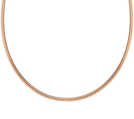 "VicenzaGold 20"" Woven Omega Necklace 14K Gold, 2.3g"