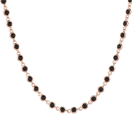 "Bronze 16"" 11.00 ct tw Black Spinel Necklace by Bronzo Italia"