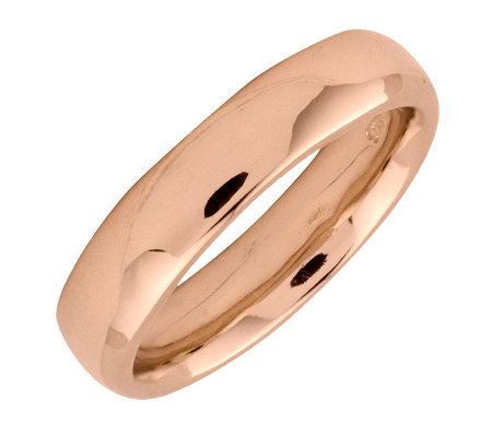 Simply Stacks Sterling 18K Rose Gold-Plated 4.25mm Ring