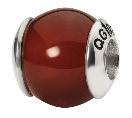 Prerogatives Sterling Carnelian Gemstone Bead