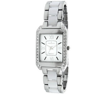 Peugeot Women's Rectangular White Dial AcrylicLink Watch - J307214