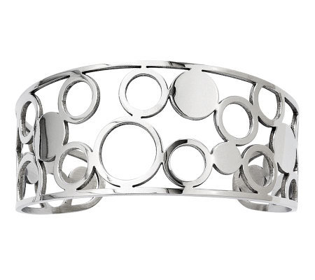 Stainless Steel Cutout Circles Cuff