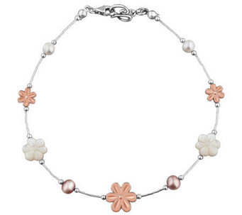 Carolyn Pollack Sterling Blushing Joy Anklet - J313214