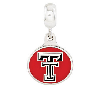 Sterling Silver Texas Tech University Dangle Bead - J315014