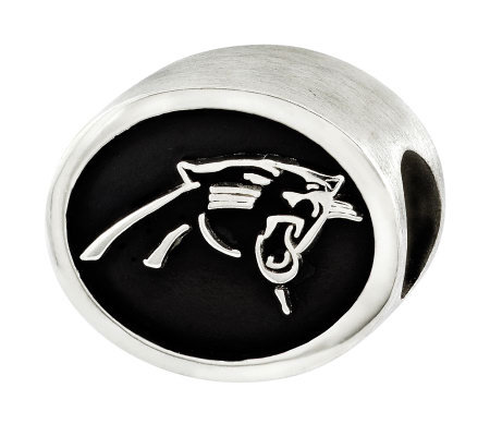 Sterling Carolina Panthers NFL Bead