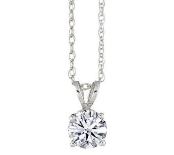 Round Solitaire Diamond Pendant, 14K, 1/4 cttw, by Affinity - J316914