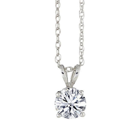 Round Solitaire Diamond Pendant, 14K, 1/4 cttw, by Affinity