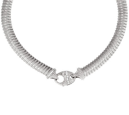 "Judith Ripka 51 gr Sterling Verona 18"" Tubogas Necklace"