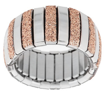 Steel by Design Stretch Glitter Ring - J320414