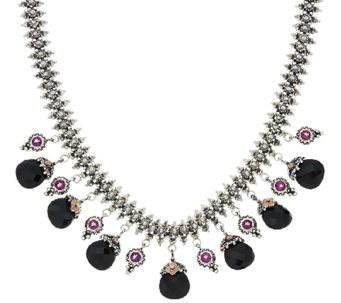 Barbara Bixby Sterling & 18K Multi-Gemstone Eastern Chain Necklace - J320714