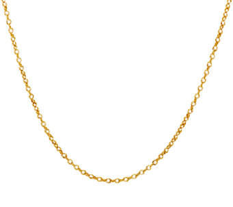 "Vicenza Gold 18"" Polished Double Round Link Chain, 14K 1.2g - J321214"
