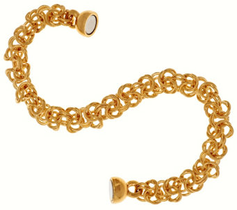 """As Is"" Oro Nuovo 7-1/4"" Woven Byzantine Bracelet, 14K - J324014"