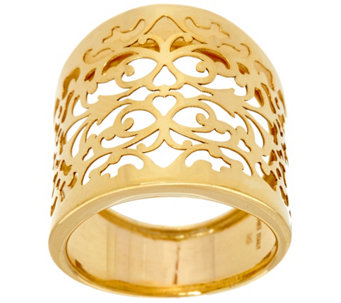 Vicenza Gold Filigree Lace Graduated Ring, 14K Gold - J324814