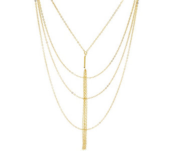 G.I.L.I. Multi-strand Tassel Drop Necklace - J329614