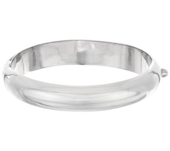 Sterling Silver Polished Hinged Bangle by Silver Style - J330514