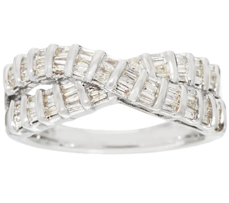 Baguette Diamond Ring, Sterling, 4/10 cttw, by Affinity