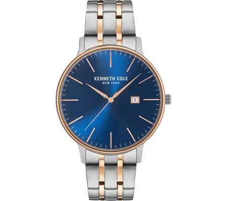 Kenneth Cole NY Men's Blue Two-Tone Stainless Bracelet Watch