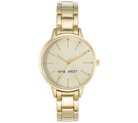 Nine West Ladies' Goldtone Bebrooke Bracelet Watch