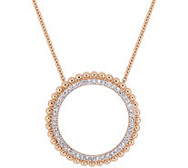 Affinity 14K 1/5 cttw Diamonds Open Circle Pendant w/ Chain - J383714