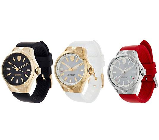 Ferrari Women S Silicone Strap Donna Watch Qvc Com