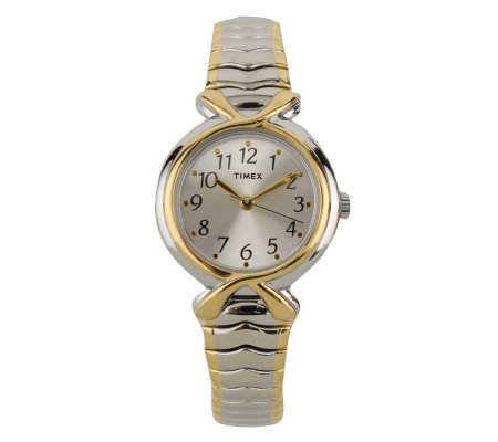 Timex Ladies Two-tone Expansion Band with Silvertone Dial