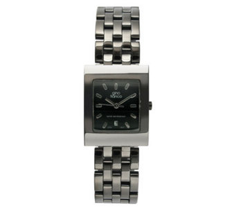 Gino Franco Men's Stainless Steel Gunmetal Bracelet Watch - J105715