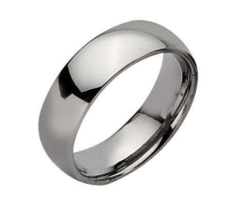 Stainless Steel 7mm Polished Ring