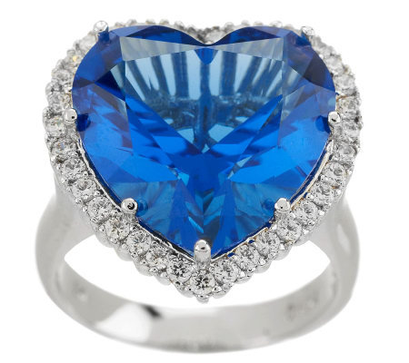 Smithsonian Simulated Blue Heart Diamond Ring