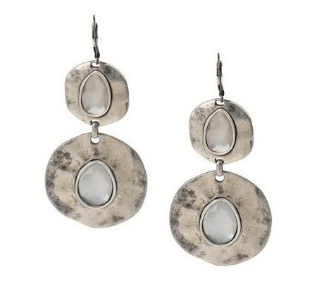 Hammered Organic Disc Earrings