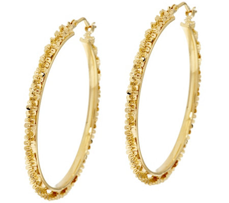 "Bronze 1-1/2"" Margherita Round Hoop Earrings by Bronzo Italia"
