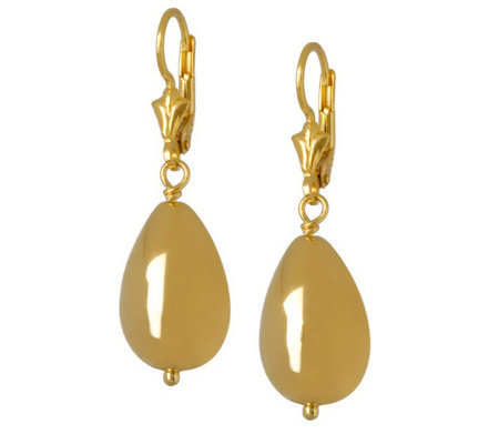 Veronese 18K Clad Teardrop Bead Drop Earrings