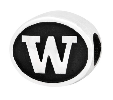 Sterling Silver University of Washington Bead