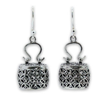 "Novica Artisan Crafted Sterling ""Evening Bag"" Earrings - J303915"