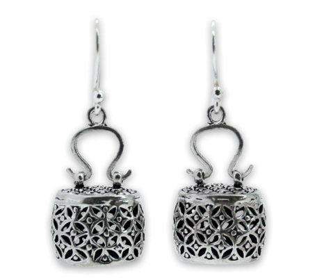"Novica Artisan Crafted Sterling ""Evening Bag"" Earrings"