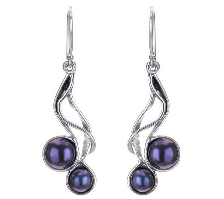 Hagit Gorali Sterling Cultured Pearl Dangle Earrings