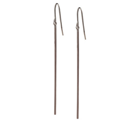 Sterling Silver Polished Stick Design Earrings by Silver Style