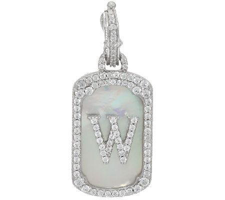 Judith Ripka Sterling Mother of Pearl Initial Enhancer