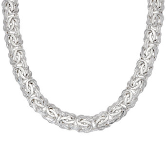 """As Is""Sterling Silver 18"" Byzantine Necklace, 57.0g by Silver Style - J327315"