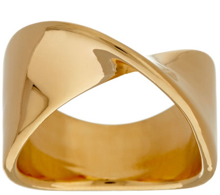 """As Is"" Oro Nuovo Polished Wave Twist Ring, 14K"