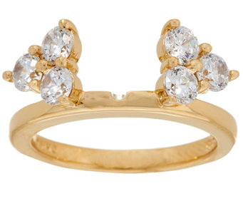 Diamonique Cluster Insert Ring, 14K Clad - J330815