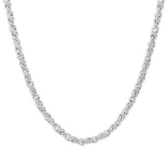 "Judith Ripka Verona 20"" Sterling Twisted Cable Necklace 38.0gr - J331615"