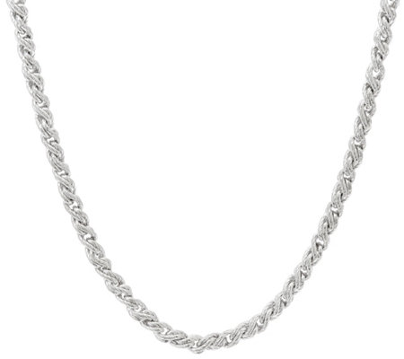 "Judith Ripka Verona 20"" Sterling Twisted Cable Necklace 38.0gr"