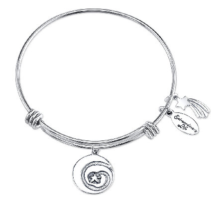 Sterling Shooting Star Charm Bangle by Extraordinary Life
