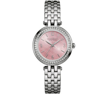 Caravelle New York Pink Floral Face Women's Watch - J343115